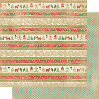 Authentique Paper - Christmas - Rejoice Collection - 12 x 12 Double Sided Paper - Seventeen