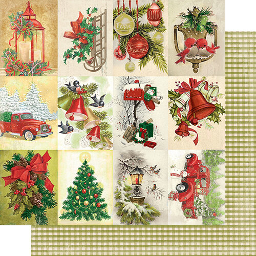 Authentique Paper - Christmas - Rejoice Collection - 12 x 12 Double Sided Paper - Twenty-four