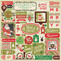 Authentique Paper - Christmas - Rejoice Collection - 12 x 12 Cardstock Stickers - Details