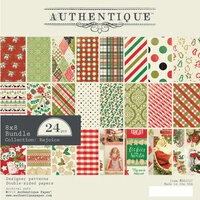 Authentique Paper - Christmas - Rejoice Collection - 8 x 8 Paper Pad - Bundle