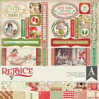 Authentique Paper - Christmas - Rejoice Collection - 12 x 12 Baking Collection Kit