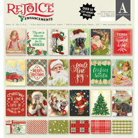 Authentique Paper - Christmas - Rejoice Collection - 12 x 12 Paper Pad - Enhancements