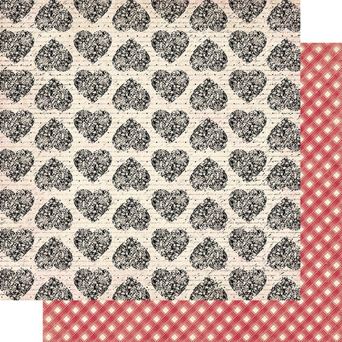 Authentique Paper - Romance Collection - 12 x 12 Double Sided Paper - Four
