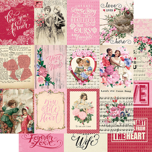 Authentique Paper - Romance Collection - 12 x 12 Double Sided Paper - Eight