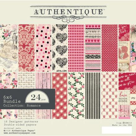 Authentique Paper - Romance Collection - 6 x 6 Paper Bundle