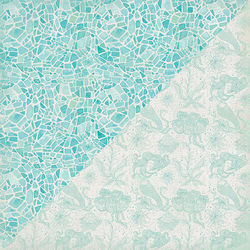 Authentique Paper - Sea-Maiden Collection - 12 x 12 Double-Sided Paper - Three