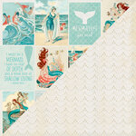 Authentique Paper - Sea-Maiden Collection - 12 x 12 Double-Sided Paper - Eight