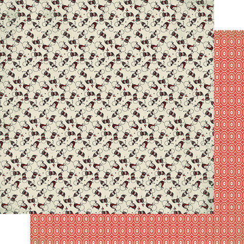 Authentique Paper - Snowfall Collection - 12 x 12 Double Sided Paper - Four