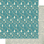 Authentique Paper - Snowfall Collection - 12 x 12 Double Sided Paper - Seven