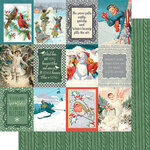 Authentique Paper - Snowfall Collection - 12 x 12 Double Sided Paper - Eight
