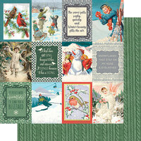 Authentique Paper - Snowfall Collection - 12 x 12 Double Sided Paper - Number Eight