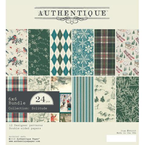 Authentique Paper - Solitude Collection - Bundle - 6 x 6 Paper Pad