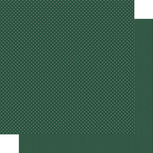 Authentique Paper - Snowfall Collection - 12 x 12 Double Sided Paper - Forest Green