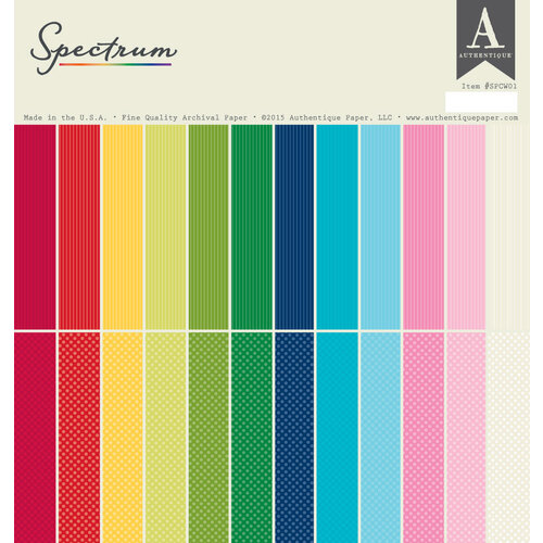 Authentique Paper - Spectrum One - 12 x 12 Paper Pad