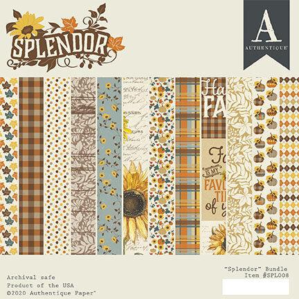 Authentique Paper - Splendor Collection - 6 x 6 Paper Pad Bundle