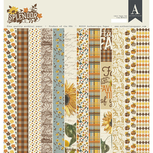 Authentique Paper - Splendor Collection - 12 x 12 Paper Pad