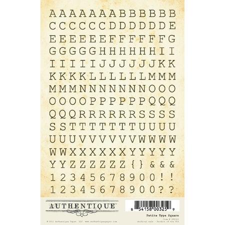 Authentique Paper - Journey Collection - Cardstock Stickers - Petite Type Square Alphabet