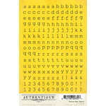 Authentique Paper - Blissful Collection - Cardstock Stickers - Petite Type Square Alphabet