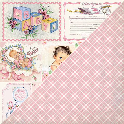 Authentique Paper - Swaddle Girl Collection - 12 x 12 Double-Sided Paper - Seven