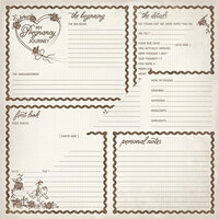 Authentique Paper - Swaddle Girl Collection - 12 x 12 Double-Sided Paper - Eight