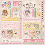 Authentique Paper - Swaddle Girl Collection - Elements