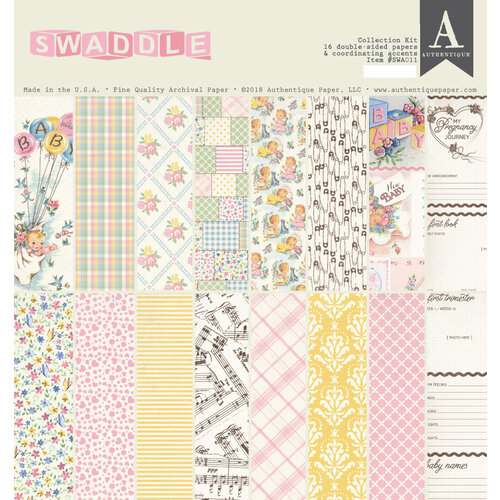 Authentique Paper - Swaddle Girl Collection - 12 x 12 Collection Kit