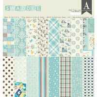 Authentique Paper - Swaddle Boy Collection - 12 x 12 Double-Sided Paper Pad