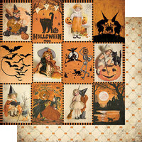 Authentique Paper - Halloween - Twilight Collection - 12 x 12 Double Sided Paper - Eight