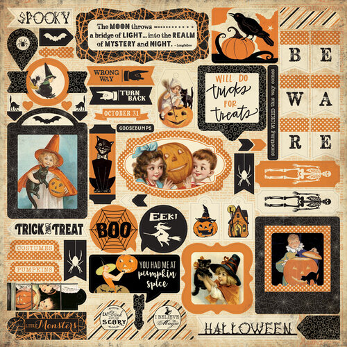 Authentique Paper - Halloween - Twilight Collection - 12 x 12 Cardstock Stickers - Details