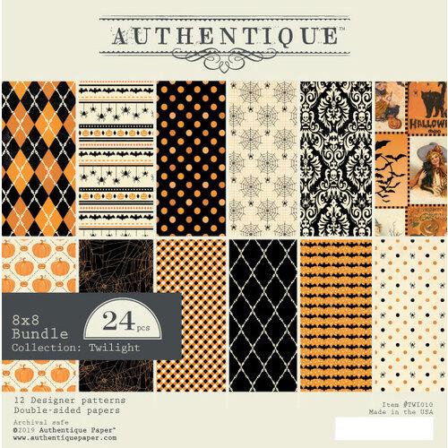 Authentique Paper - Halloween - Twilight Collection - 8 x 8 Paper Pad Bundle