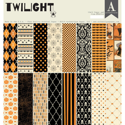 Authentique Paper - Halloween - Twilight Collection - 12 x 12 Paper Pad