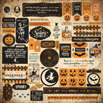 Authentique Paper - Halloween - Twilight Collection - 12 x 12 Cardstock Stickers - Details Two