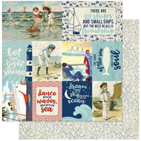 Authentique Paper - Voyage Collection - 12 x 12 Double Sided Paper - Eleven