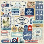 Authentique Paper - Voyage Collection - 12 x 12 Cardstock Stickers - Details