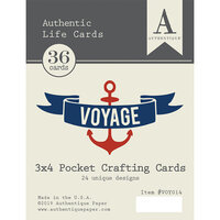 Authentique Paper - Voyage Collection - 3 x 4 Pocket Crafting Cards - Life Card