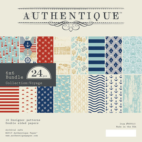 Authentique Paper - Voyage Collection - 6 x 6 Paper Pad Bundle