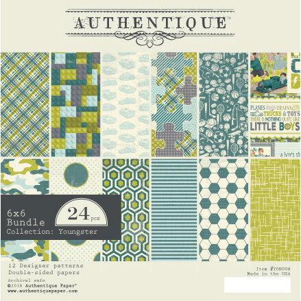 Authentique Paper - Youngster Collection - 6 x 6 Paper Pad Bundle