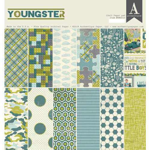 Authentique Paper - Youngster Collection - 12 x 12 Double-Sided Paper Pad