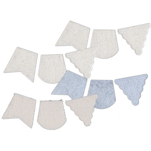 Basically Bare - Basically Embellies - Bare Basics - Canvas Chipboard and Felt Pieces - Pennants - Large