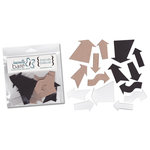 Basically Bare - Basically Embellies - Bare Basics - Acrylic and Chipboard Pieces - Arrows