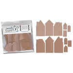 Basically Bare - Basically Embellies - Bare Basics - Cardboard and Chipboard Pieces - Happy Little Houses Set