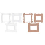 Basically Bare - Basically Embellies - Bare Basics - Chipboard and Acrylic Pieces - Fanciful Frames II Set