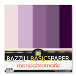 Bazzill Basics - Monochromatic Packs 12 x 12 - Violet