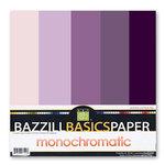 Bazzill Basics - Monochromatic Packs 12 x 12 - Violet