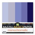Bazzill Basics - Monochromatic Packs 12 x 12 - Blue-Violet
