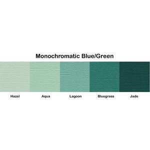 Bazzill Basics - Monochromatic Packs 12 x 12 - Blue-Green