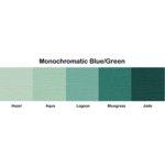 Bazzill Basics - Monochromatic Packs 12 x 12 - Blue-Green