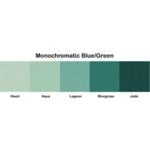 Bazzill Basics - Monochromatic Packs 8.5 x 11 - Blue-Green