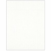 Bazzill Basics - Bulk Textured Cardstock Pack - 25 Sheets - 8.5 x 11 - White