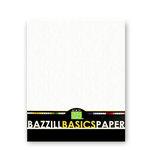 Bazzill Basics - Bulk Cardstock Pack - Orange Peel Texture - 25 Sheets - 8.5x11 White